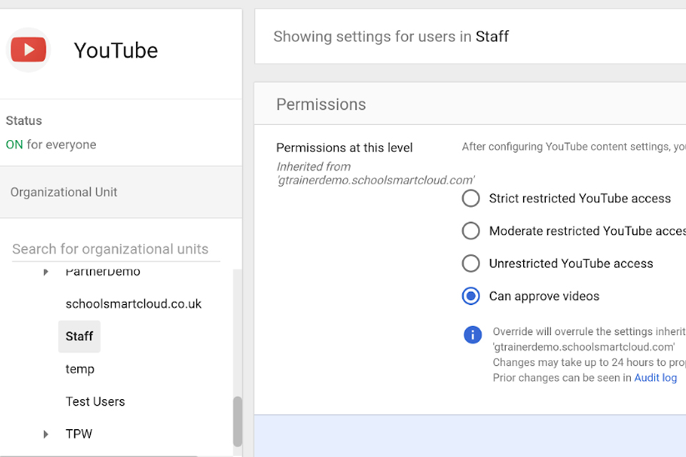 YouTube access in LGfL schools - London Grid for Learning