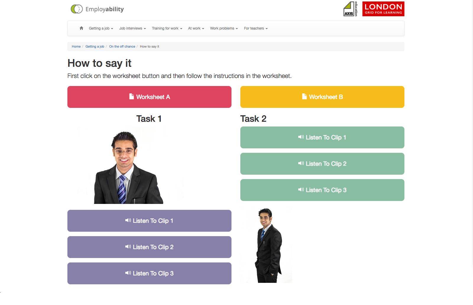 Employability London Grid for Learning – Employability Skills Worksheets