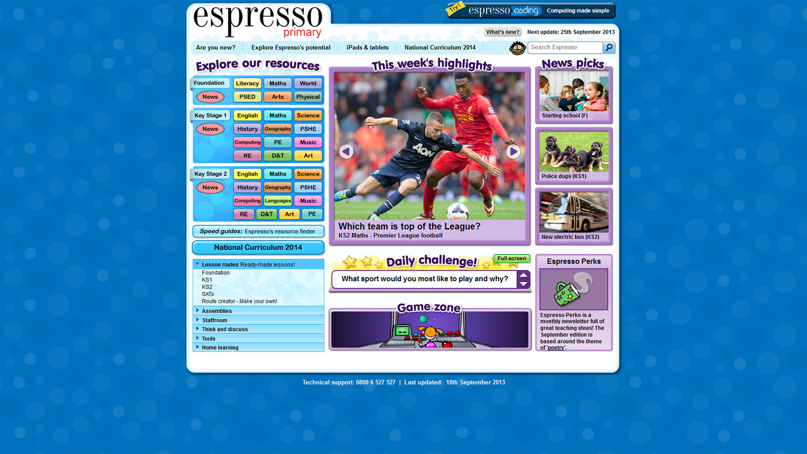 Espresso Primary - London Grid for Learning