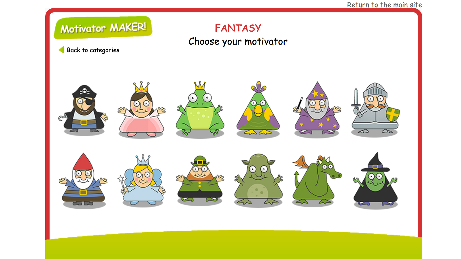 Fairy Tales summary page - London Grid for Learning